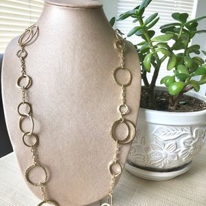 Jewelry - Slinky Runway Extra Long Gold O'Chain Necklace